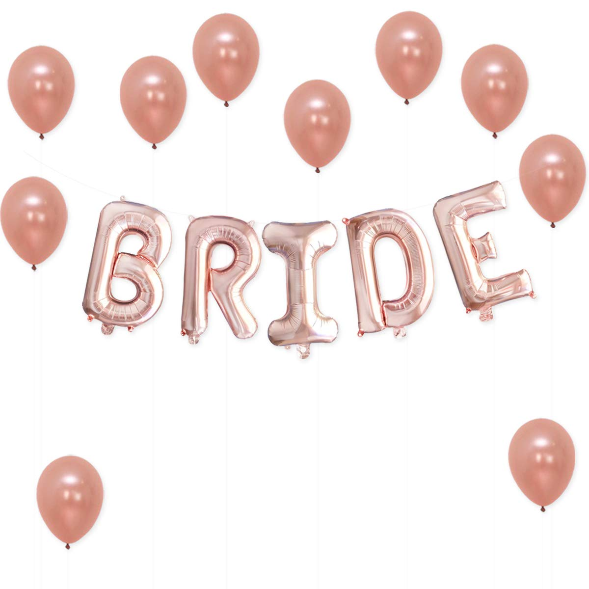 bride rose gold balloons decorations great for bridal shower party cute rose gold bridal