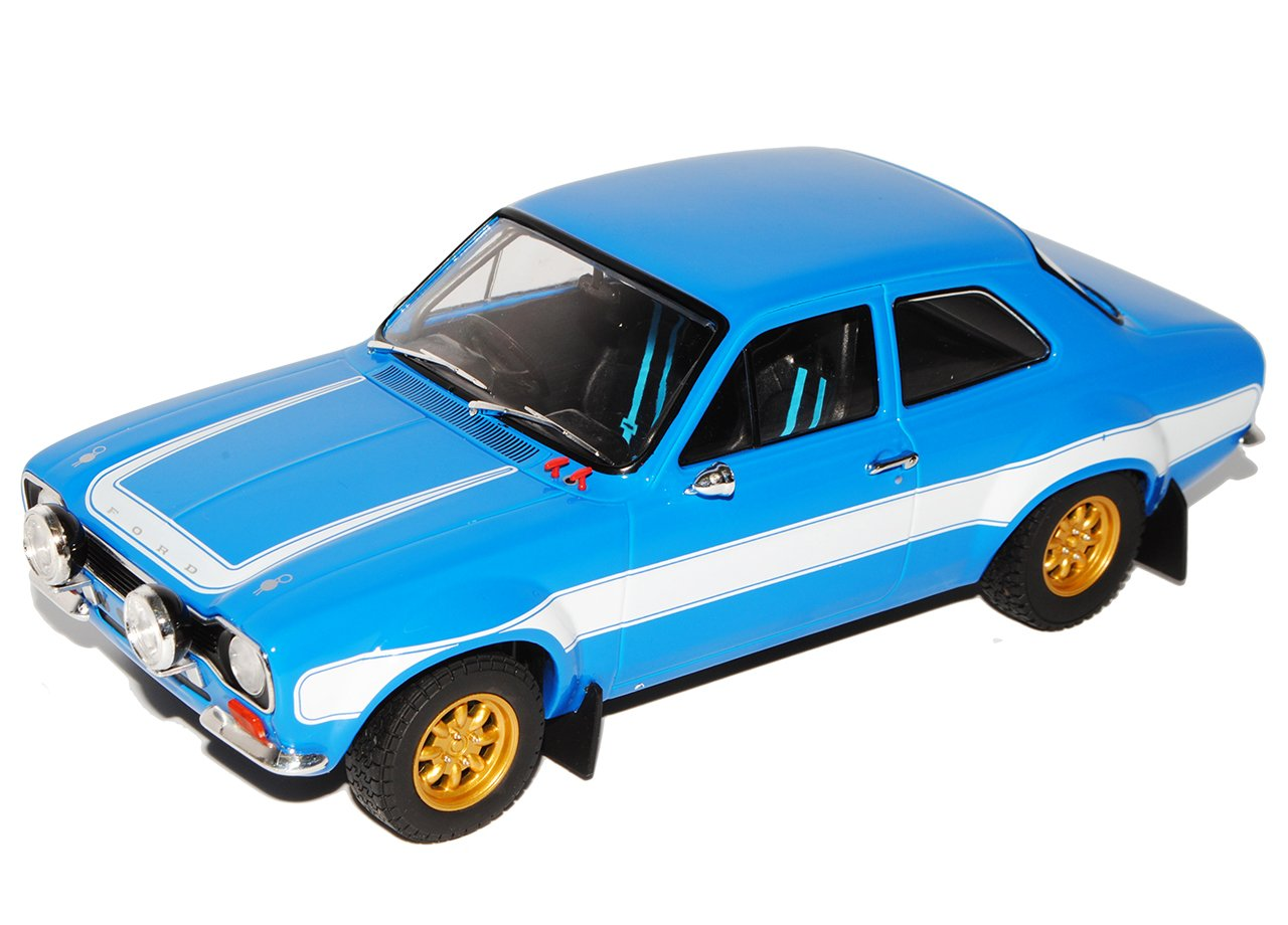 Grünlight Ford Escort RS 2000 Blau MKI Brian O Connor Paul Walker Fast and Furious VI 2013 1/18 Modell Auto