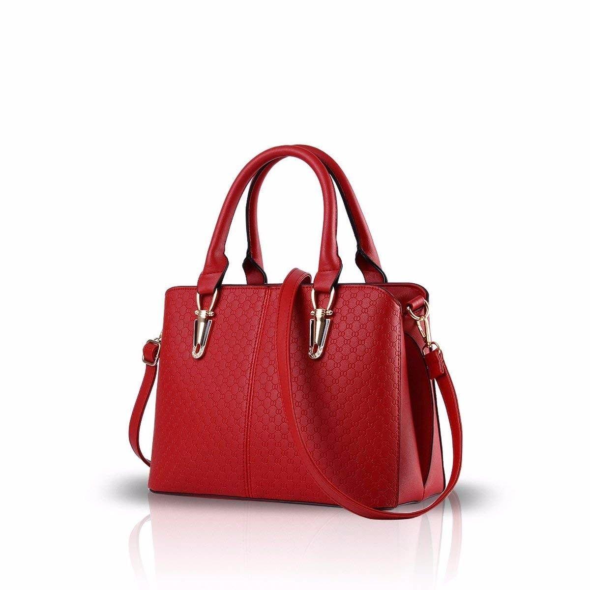 Gxinyanlong Fashion trend handbag, retro leisure single shoulder bag, lady Satchel,gules