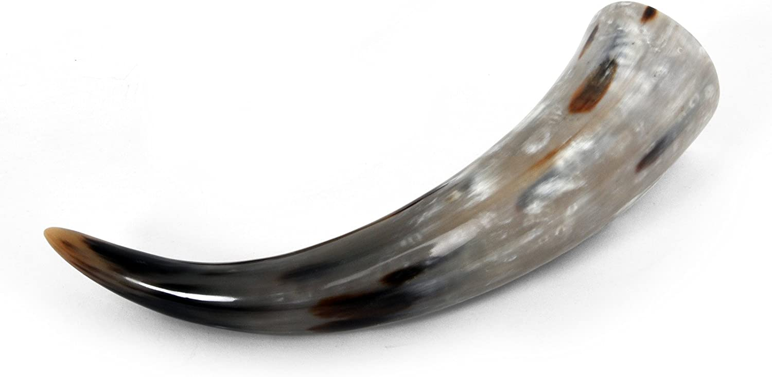 Elbenwald Drinking Horn Food-Safe Natural Product LARP Accessory Stylish Container for Met