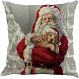 Cuscino di Christmas, Longra Buon Natale 45cmX45cm Babbo Natale stampato lenzuola Square Pillowcases