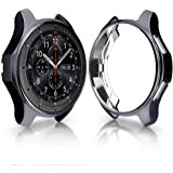 KTcos Coque pour Samsung Gear S3 Frontier SM-R760, Soft TPU Plaqué [Anti-Rayures] Autocollant De Protection pour Samsung Gear S3 Frontier SM-R760 Smartwatch (Gris de l'espace)