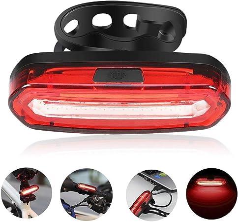 Cycling Road Bike Rear Tail Lights USB Charging COB LED Light Waterproof TW UK