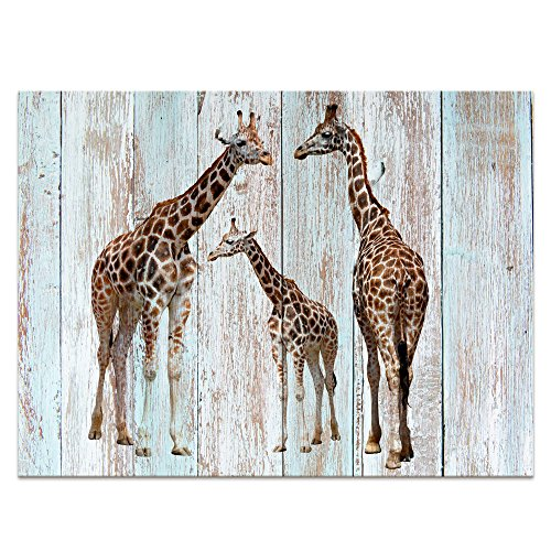 Frame Giraffe (Creative Giraffe Canvas Prints Wall Decor Wood Background Painting Photography Animals Prints Home Decor (24