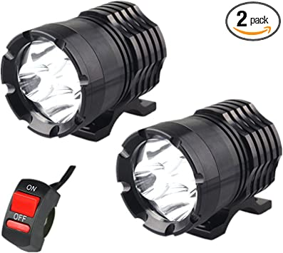 2pcs Motorcycle Motorbike Headlight Spot Fog Lights Head Front Work Light 4 LED
