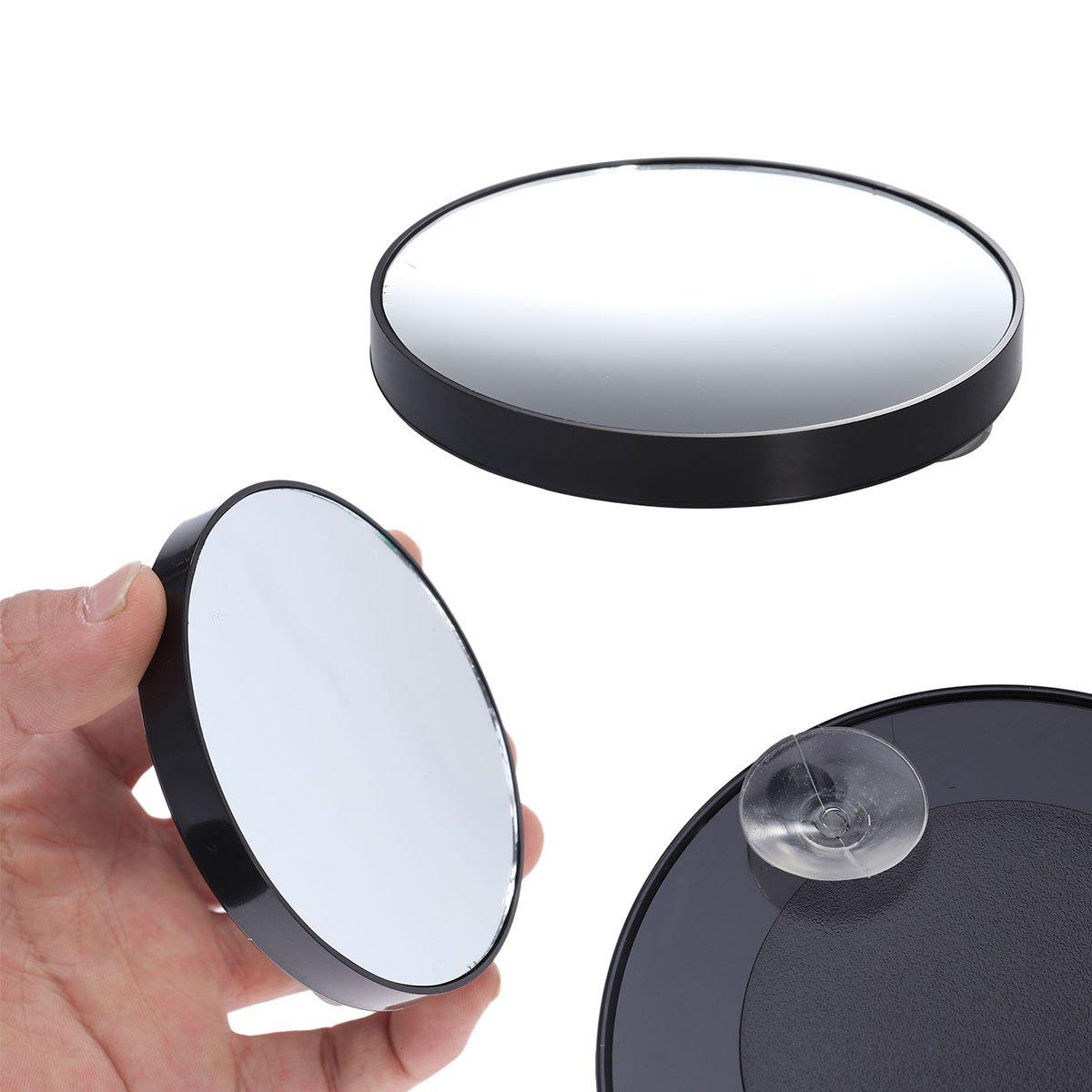 KAIMENG Miroir de maquillage 3.5 pouces 15X Loupe Miroir rond avec luminaire à ventouse