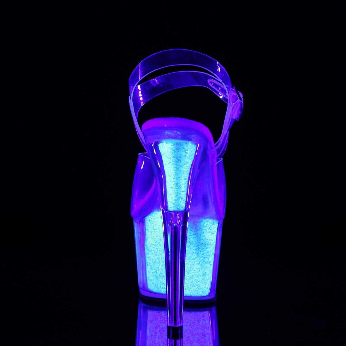 Pleaser FLAMINGO-809T Paillettes Opales Transparentes Fluo