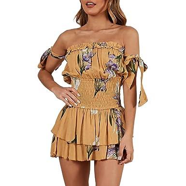 252aa523613 JERFER Combinaison Femme Crayon de Cocktail midi imprimé Floral Combi-Pantalon  Jumpsuit Rompers  Amazon.fr  Vêtements et accessoires
