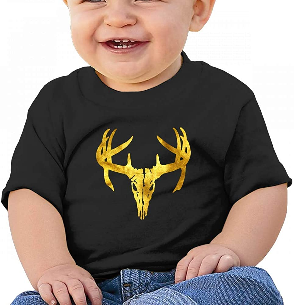 Golden Deer Skull Baby Boys Toddler Short Sleeve T-Shirts Tees
