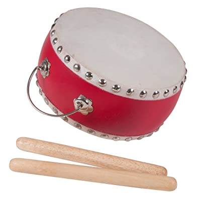 Westco Japanese Style Drum with Handle and Mallets (3 x 6.5 inches; Age 5+): Toys & Games