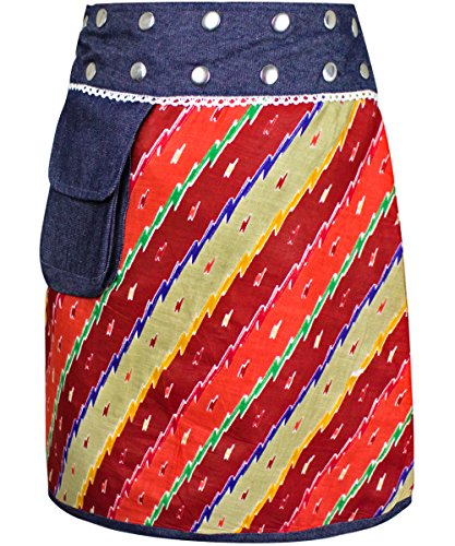 en jeans 15264 taille jupe 2 reversible dt jupe jupe mini jupe Sunsa ajustable Jupe 1 jupe portefeuille dames qwx4OwFTt