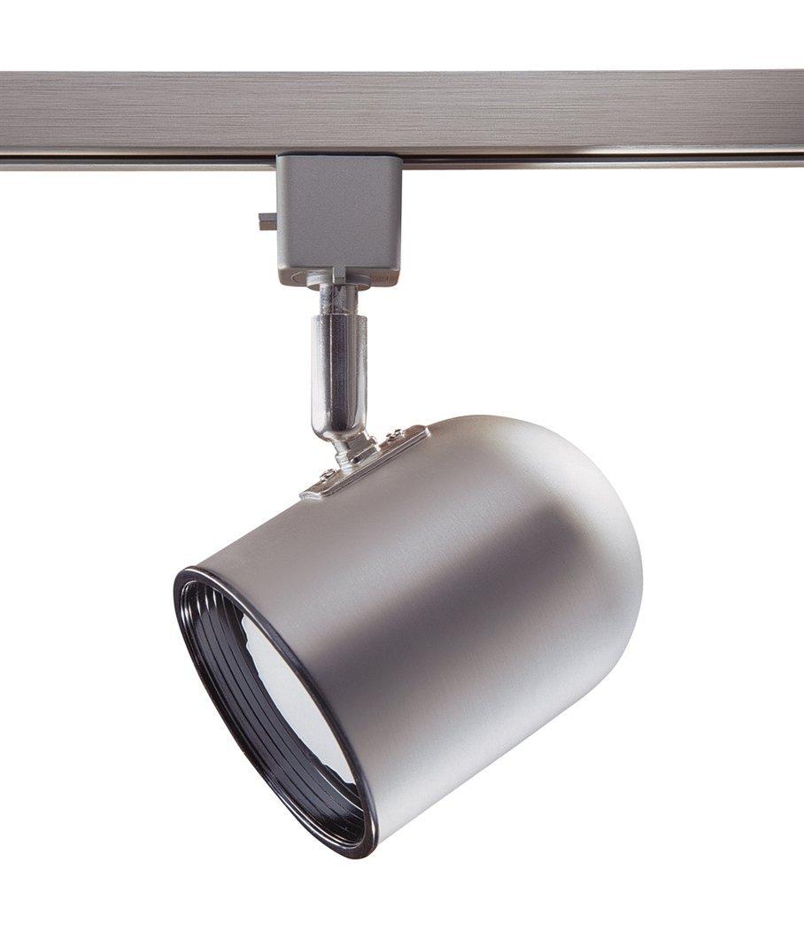 Kendal Lighting TLPR20-BST Designers Choice Cylinder 1 Light 120V PAR20 Track Head, Brushed Steel Finish