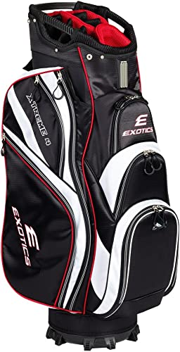 Tour Edge Male Exotics Xtreme4 Cart Bag Men s, Exotics Extreme 4 Cart Bag Black White