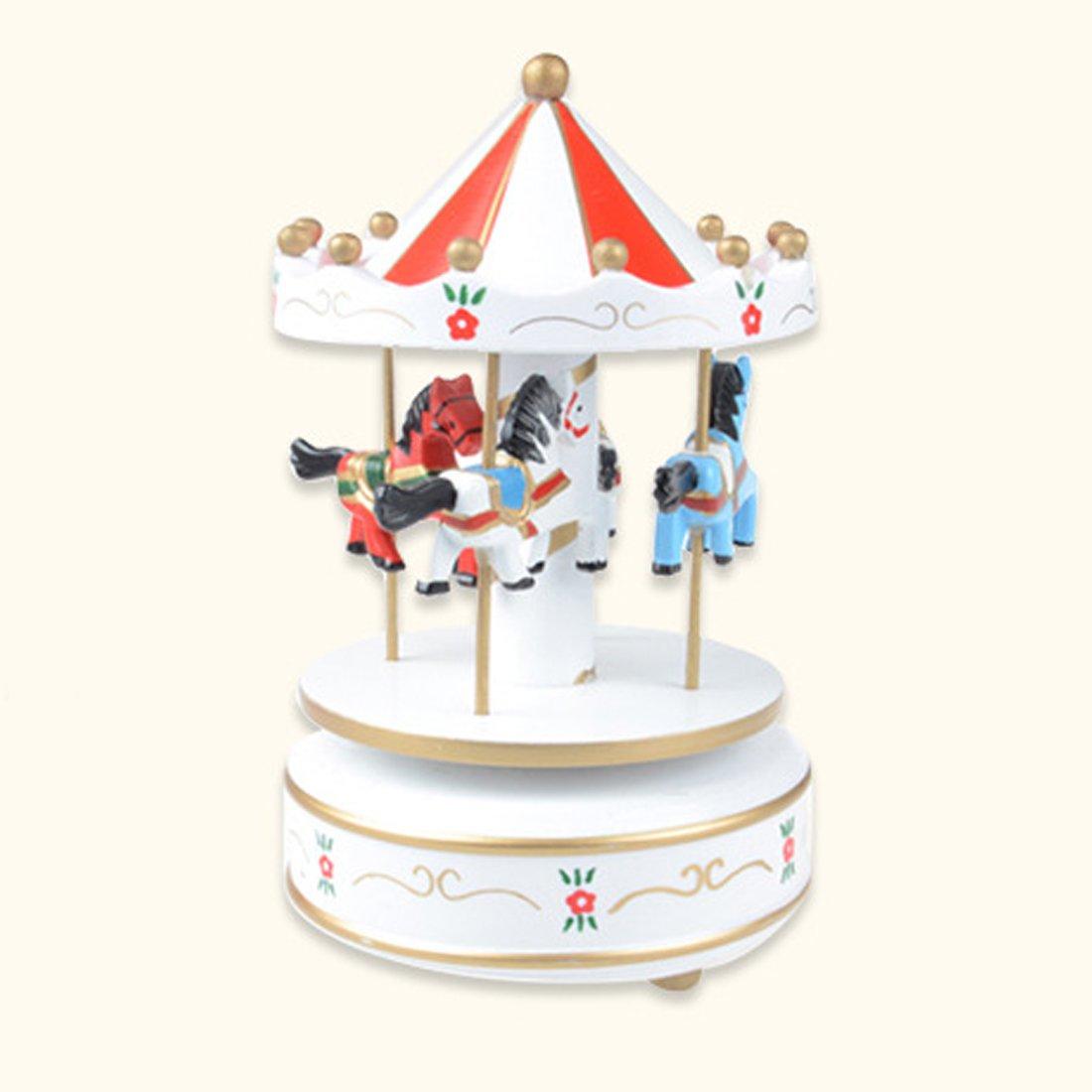 超可爱 Classical木製メリーゴーランドカルーセル音楽ボックスギフトおもちゃ結婚式装飾、ブルーピンク YEHUA17TXQ0554 20x10.5x6cm ホワイト ホワイト YEHUA17TXQ0554 ホワイト B074M4YKKR ホワイト, ayanas:402202ad --- arcego.dominiotemporario.com