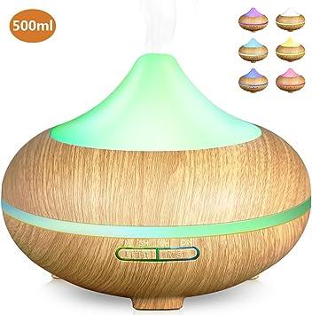 Aroma Diffuser 500ml Luftbefeuchter Ultraschall Aromatherapie  7 LED Spa