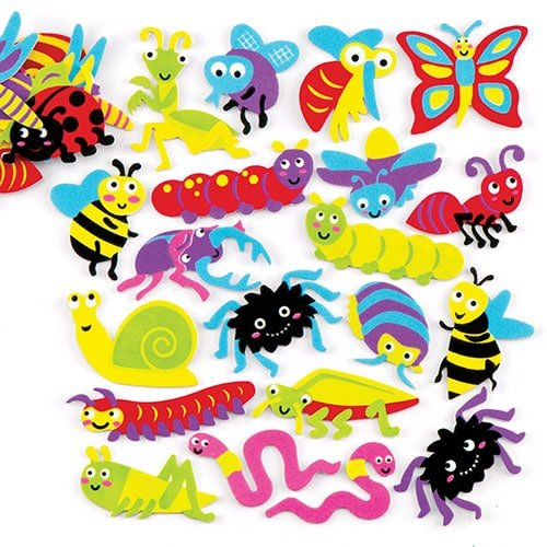(Baker Ross Insects and Bugs Foam Stickers for Children to Design, Make and Display - Creative Picture Craft Set for Kids (Pack of 120) )