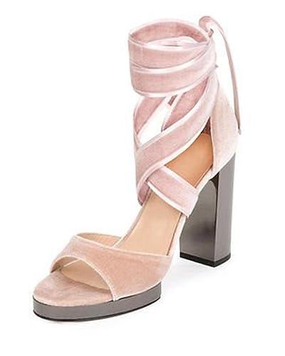 3d094c8af01 Image Unavailable. Image not available for. Color  Valentino Garavani  Ballet Fever Velvet Ankle-Wrap Sandal ...