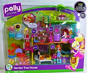 Polly Pocket Garden Tree House Playset 35+ Pieces Included