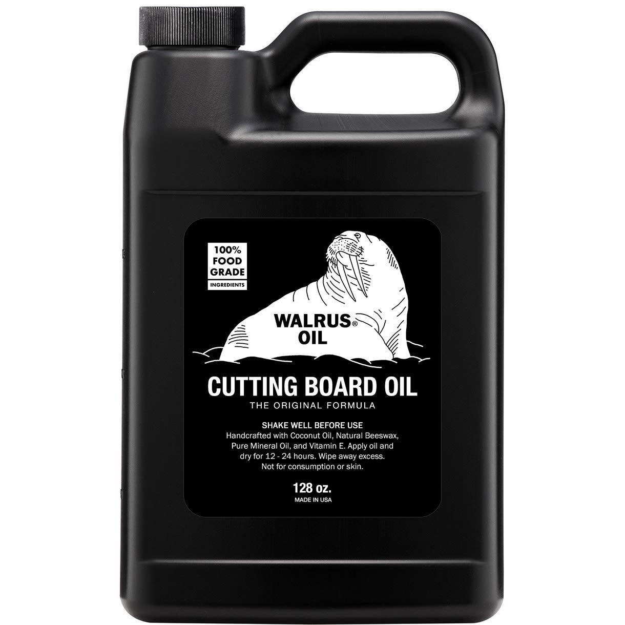 WALRUS OIL - Cutting Board Oil and Wood Butcher Block Oil, 128 oz / 1 gallon Jug by Walrus Oil