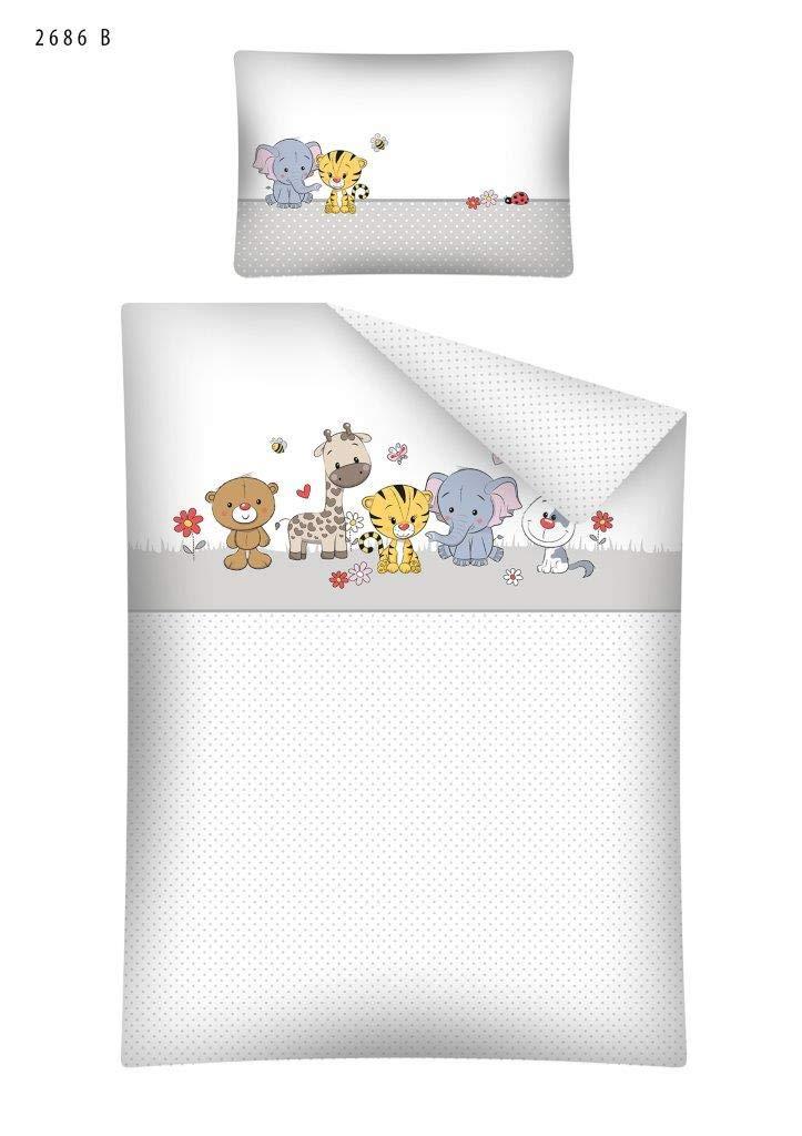 Kinderbettwäsche Bettwäsche 100x135 + 40x60 Tiere 2686B Babybettwäsche Detexpol