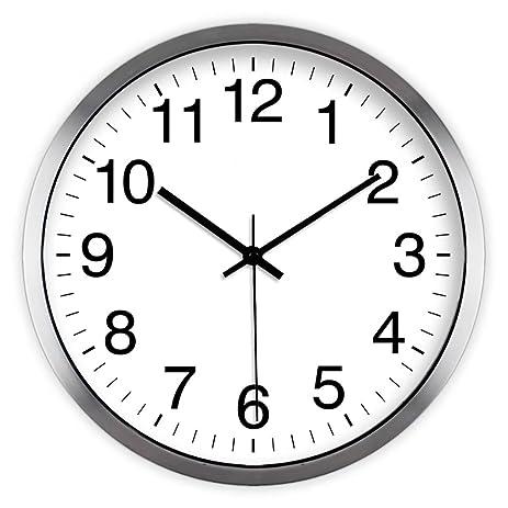silent wall clock living room bedroom clocks modern simple wall clocks circular clock creative hanging table - Bedroom Clock