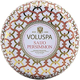 product image for Voluspa Saijo Persimmon 2 Wick Tin Candle, 11 Ounces