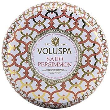 Amazoncom Voluspa Saijo Persimmon 2 Wick Metallo Candle 11 Oz Beauty
