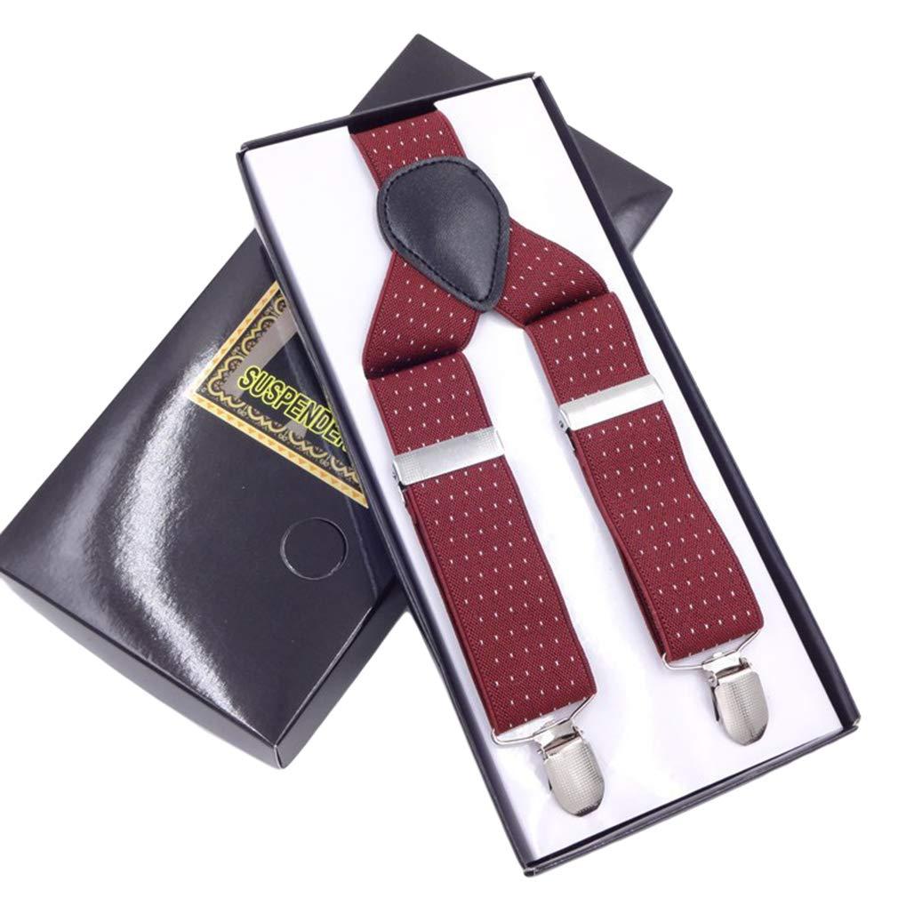 SupSuspen Mens Y Back Paisley Adjustable Elastic Suspenders 1 In Width /&3 Clips