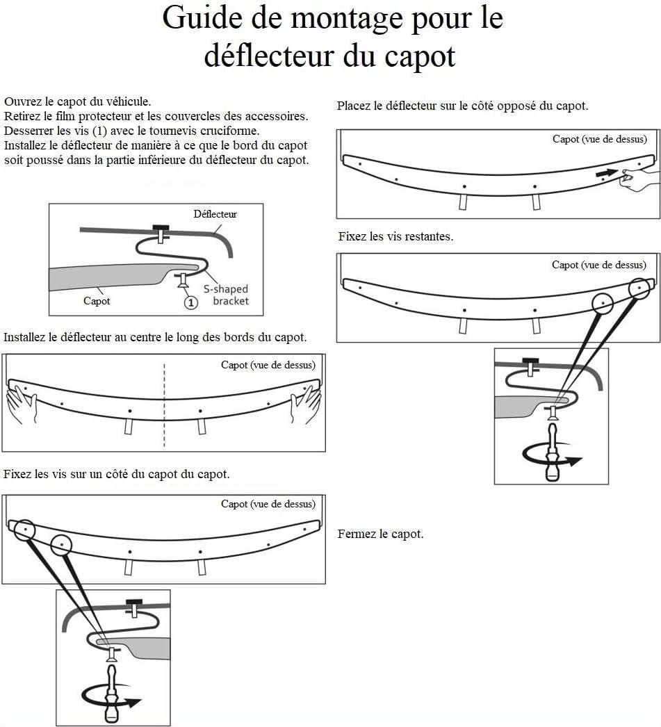 Protective Front bonnet deflector//Front bonnet deflector HDFI501