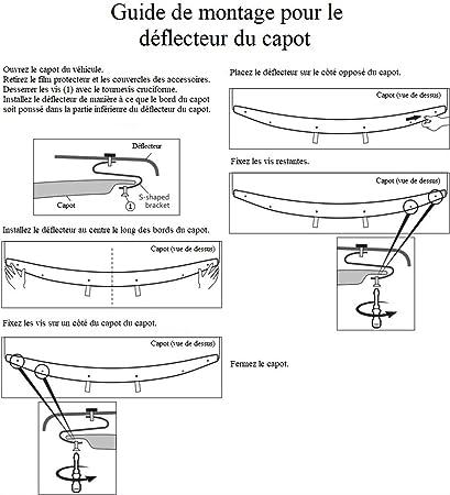 up Protection de capot//D/éflecteurs de capot Deflettori del cofano di protezione//Deflettori frontali per SUBARU Outback 2015