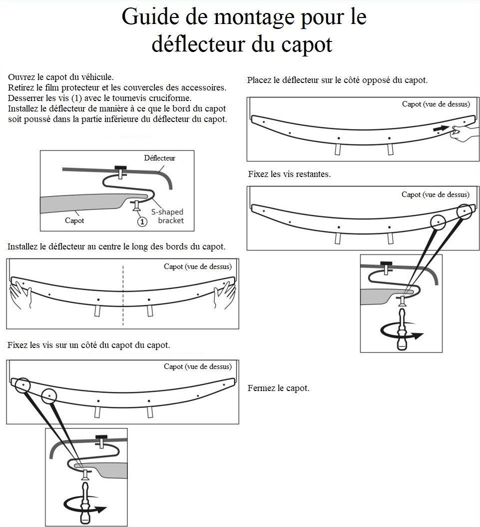 Protection de capot//D/éflecteurs de capot pour HDME505