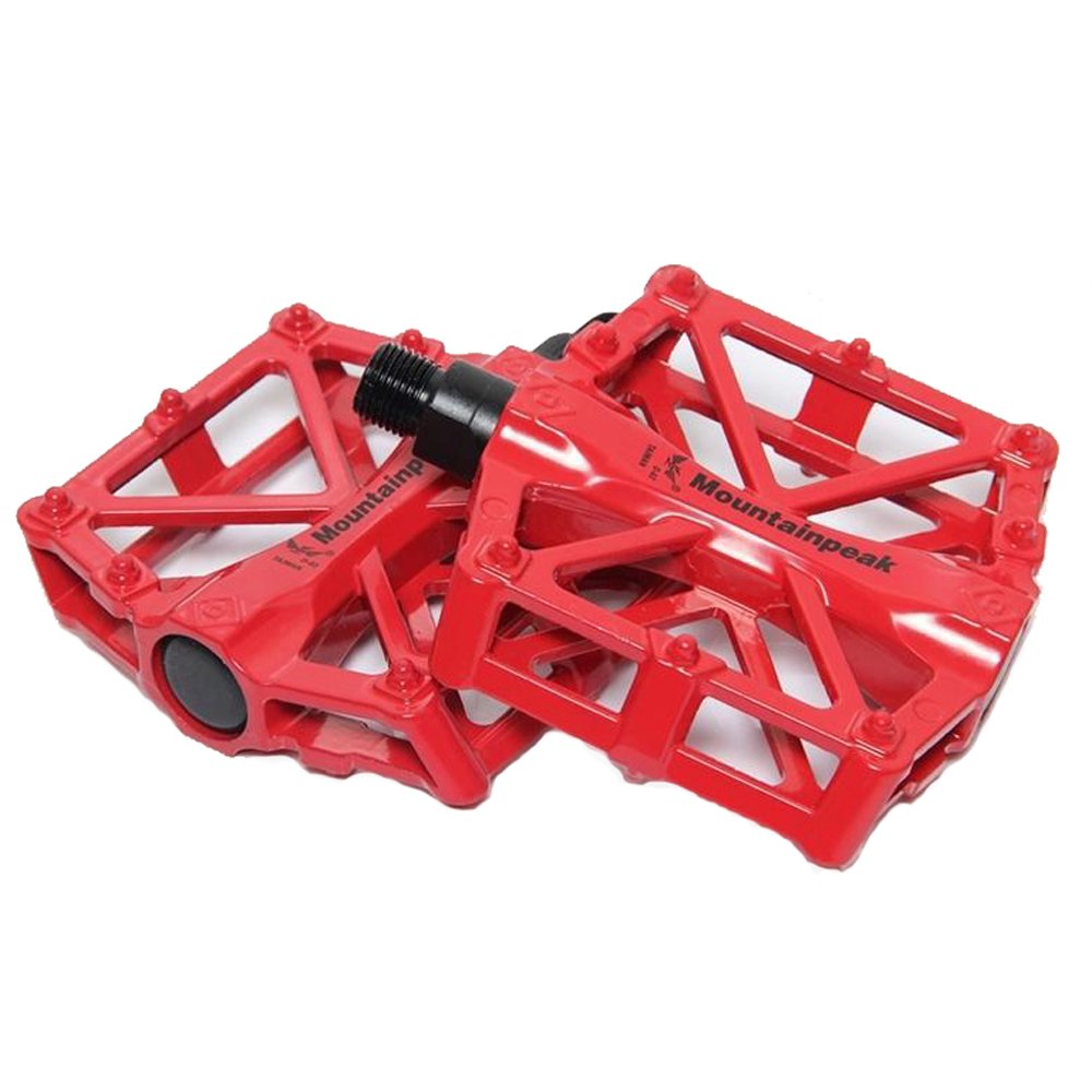 Red Kairuide MTB Cycling Bike Bicycle Aluminum Alloy Flat Platform Pedals