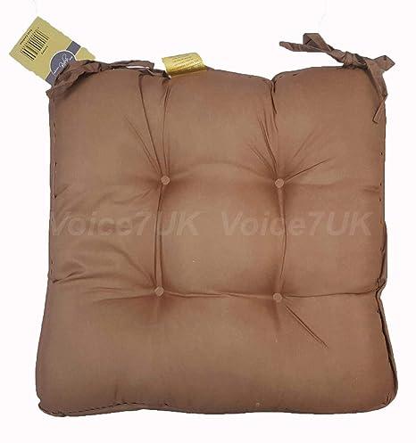 Cuscino in microfibra morbido con fascette per sedia da pranzo ...