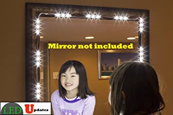 Amazon.com: MAKE UP MIRROR LED LIGHT FOR VANITY MIRROR with dimmer ...