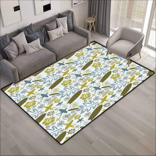 - Pet Rug,Luau,for Outdoor and Indoor,4'11