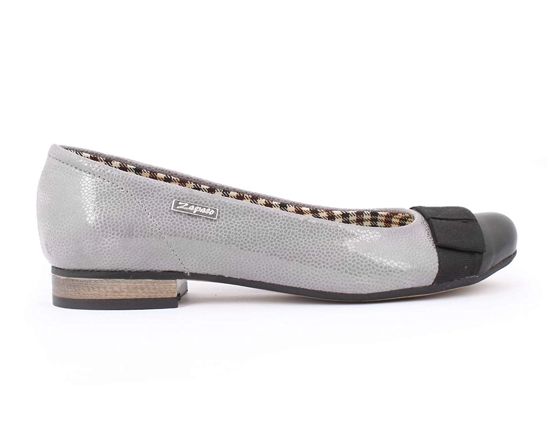 Zapato 007 Damen Ballett Grau - grau Lapki - Größe  38