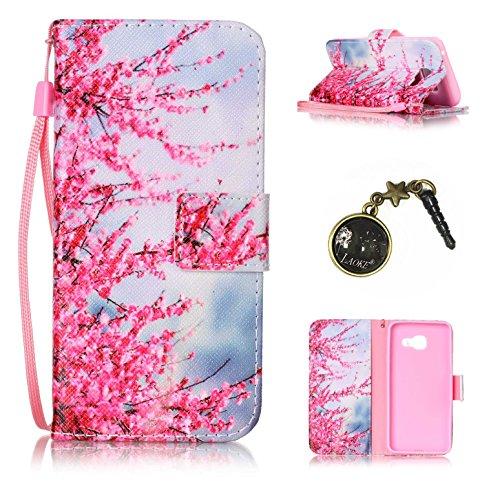 PU Carcasa de silicona teléfono móvil Painted PC Case Cover Carcasa Funda De Piel Caso de Shell cubierta para Samsung Galaxy A3(2016) A310a310F (+ Polvo Conector) 9 7