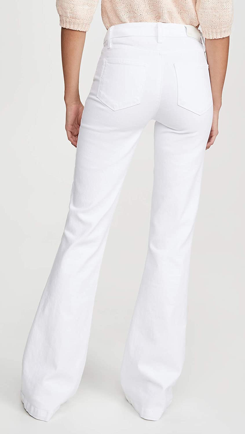 Paige Women's Genevieve Exposed Button Fly Jeans Crisp White