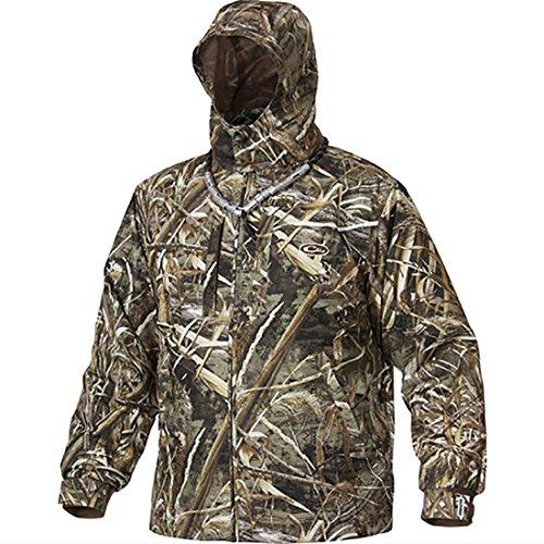 Drake Mens EST Heat-Escape Full Zip Jacket Waterproof Polyester Realtree Max-5 Camo 2XL