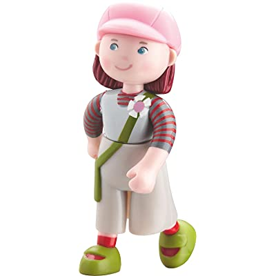"""HABA Little Friends Elise - 4"""" Bendy Girl Doll Figure with Pink Hat: Toys & Games"""