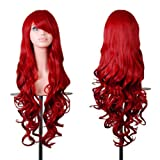 "Amazon Price History for:Rbenxia Wigs 32"" Women Wig Long Hair Heat Resistant Spiral Curly Cosplay Wig Anime Fashion Wavy Curly Cosplay Daily Party Red"