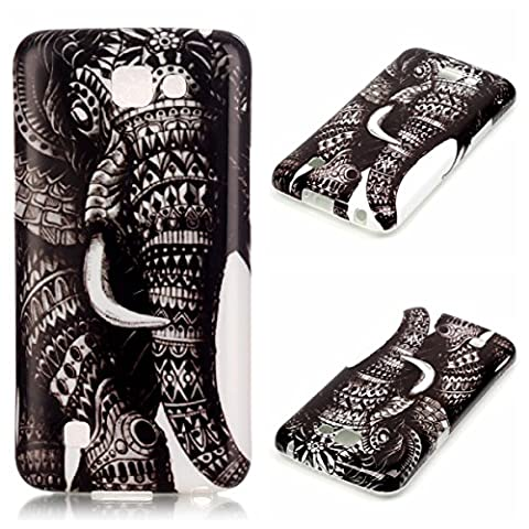 LG K4 Case, LG Spree/ Optimus Zone 3 Case, Firefish Anti-Skid Slim TPU Rubber Gel Durable Soft Scratch-Proof Shock Absorption for LG K4 LTE/LG Spree/LG Rebel LTE - (Lg Optimus Cell Phone Holster)