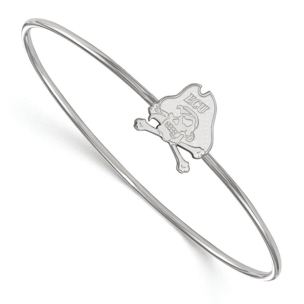 Mia Diamonds 925 Sterling Silver LogoArt East Carolina University Slip-on Bangle