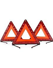 Triangle de signalisation Triangle de sécurité pliable Triangle de signalisation du symbole de danger sur les routes en bordure de route Symbole de pour urgence avec sac de rangement (3 pièces)