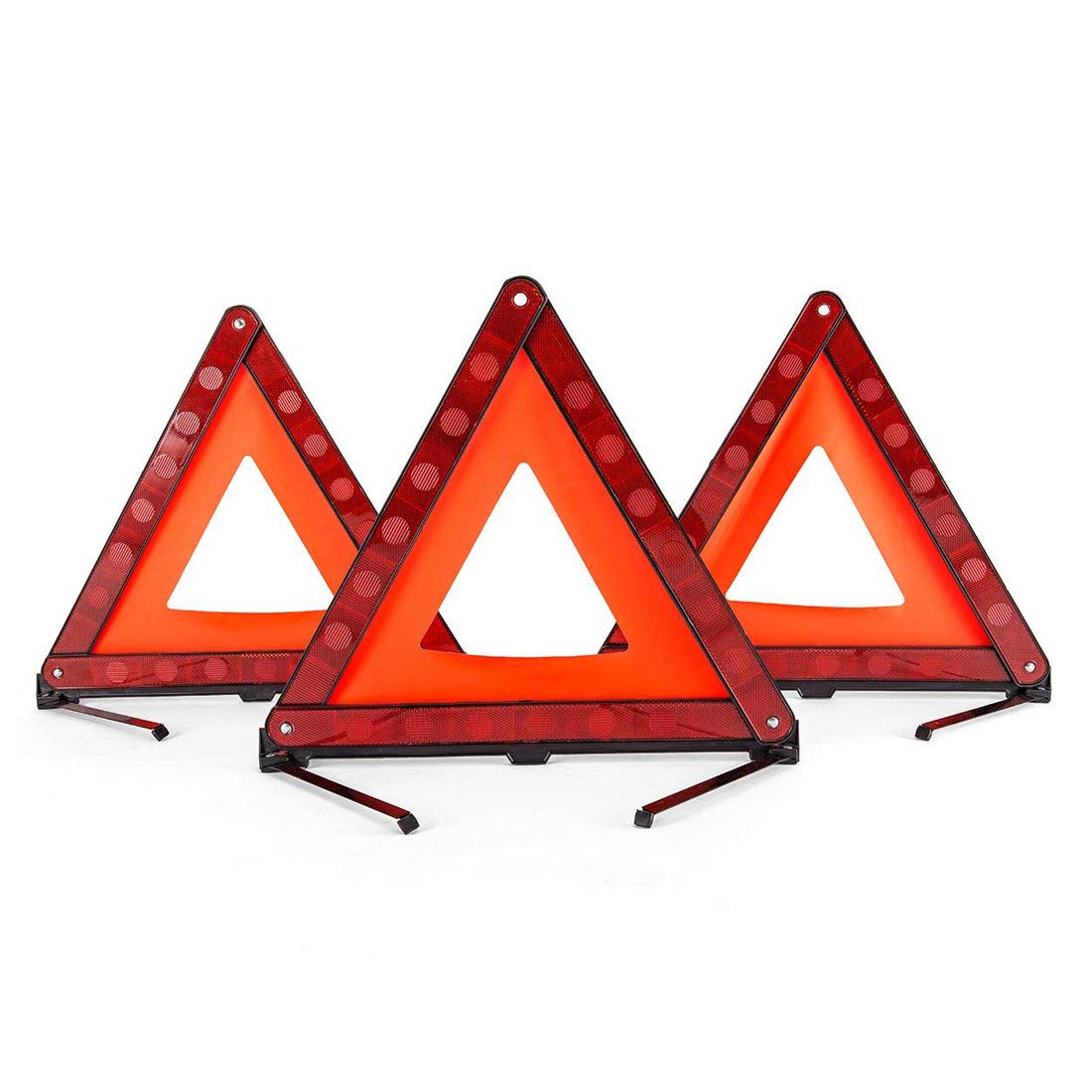 BOEHNER triangolo di sicurezza Sicurezza pieghevole Triangle Triple kit attenzione attenzione triangolo riflettore strada pericolo segno simbolo del triangolo di emergenza Storage Bag (3 pezzi)