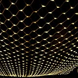 ZRUI Led String Lights Fairy Net Mesh Waterproof 8 Models 60x60 inches Dia.1.6mm Stronger Decorative (Warm White)