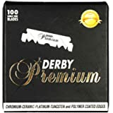 DERBY Premium Professional Single Edge Razors Blades Box of 100 Count Best for Barber Razors and Exchangeable Blade Razors an