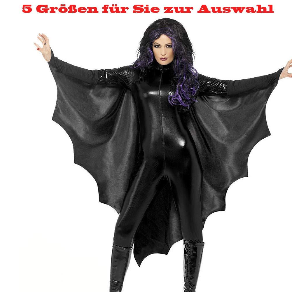 b0d2f56228247c Shuibian sexy Halloween Fledermaus Batman Geist Vampir kostüm für Teenager  Damen Herren Frauen Karneval Fasching Fastnacht