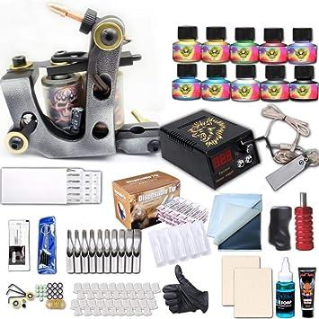Tattoo Machine Set Professional Artist Aluminum Tattoo ... - Amazon.com