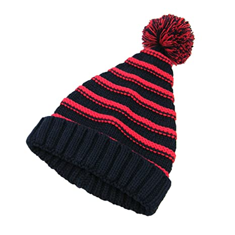 Amazon.com  BESTOYARD Knit Bobble Hat Kids Winter Striped Pom Pom ... 6f8076a5f06